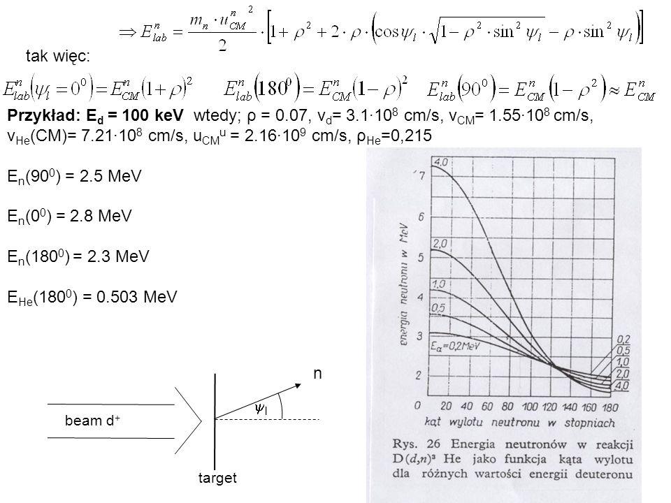 vHe(CM)= 7.21·108 cm/s, uCMu = 2.16·109 cm/s, ρHe=0,215