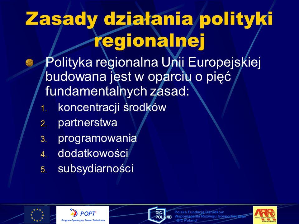 Zasady działania polityki regionalnej