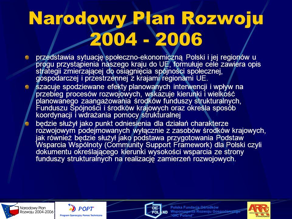 Narodowy Plan Rozwoju 2004 - 2006