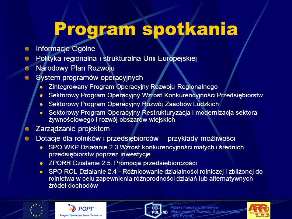 Program spotkania Informacje Ogólne