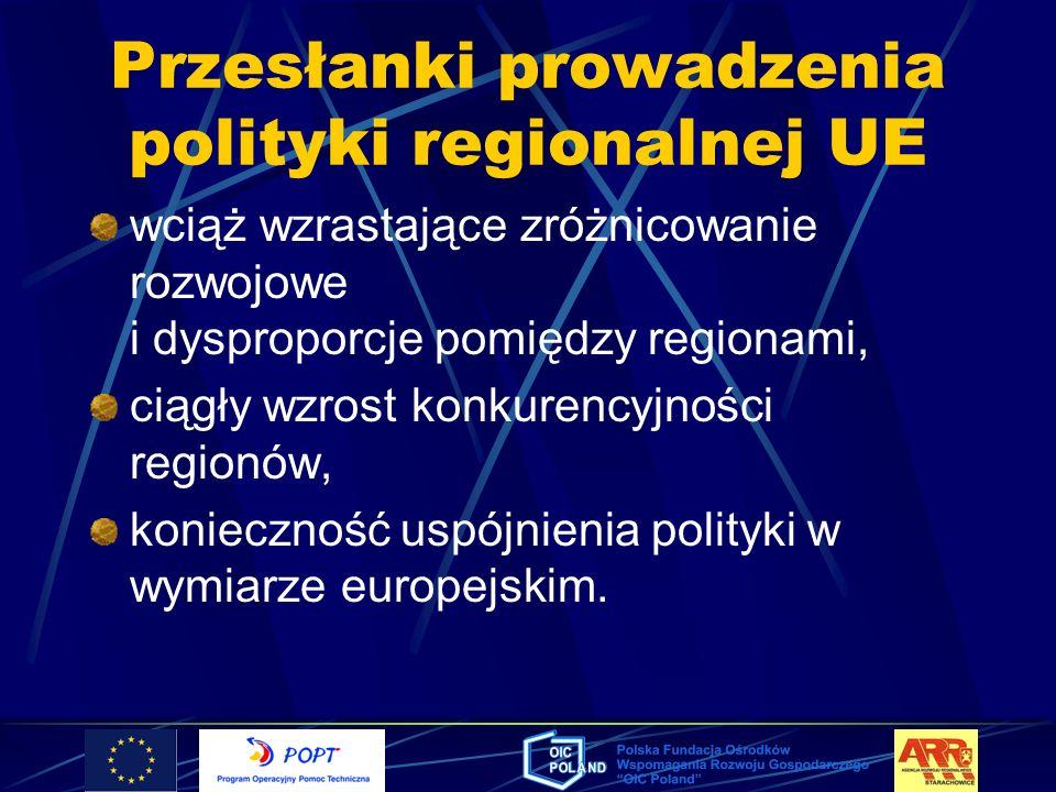 Przesłanki prowadzenia polityki regionalnej UE