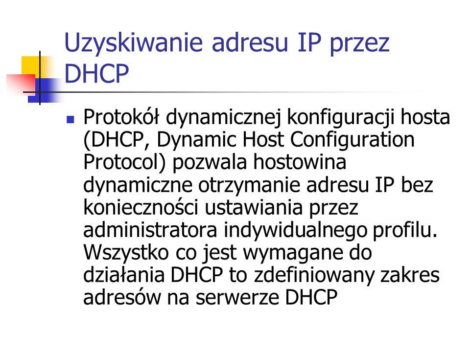 Uzyskiwanie adresu IP przez DHCP