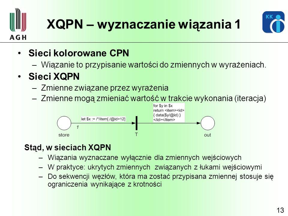 XQPN – wyznaczanie wiązania 1