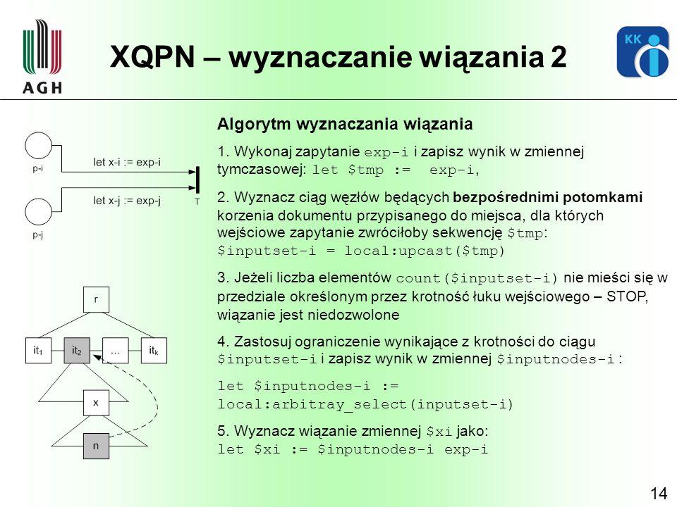 XQPN – wyznaczanie wiązania 2
