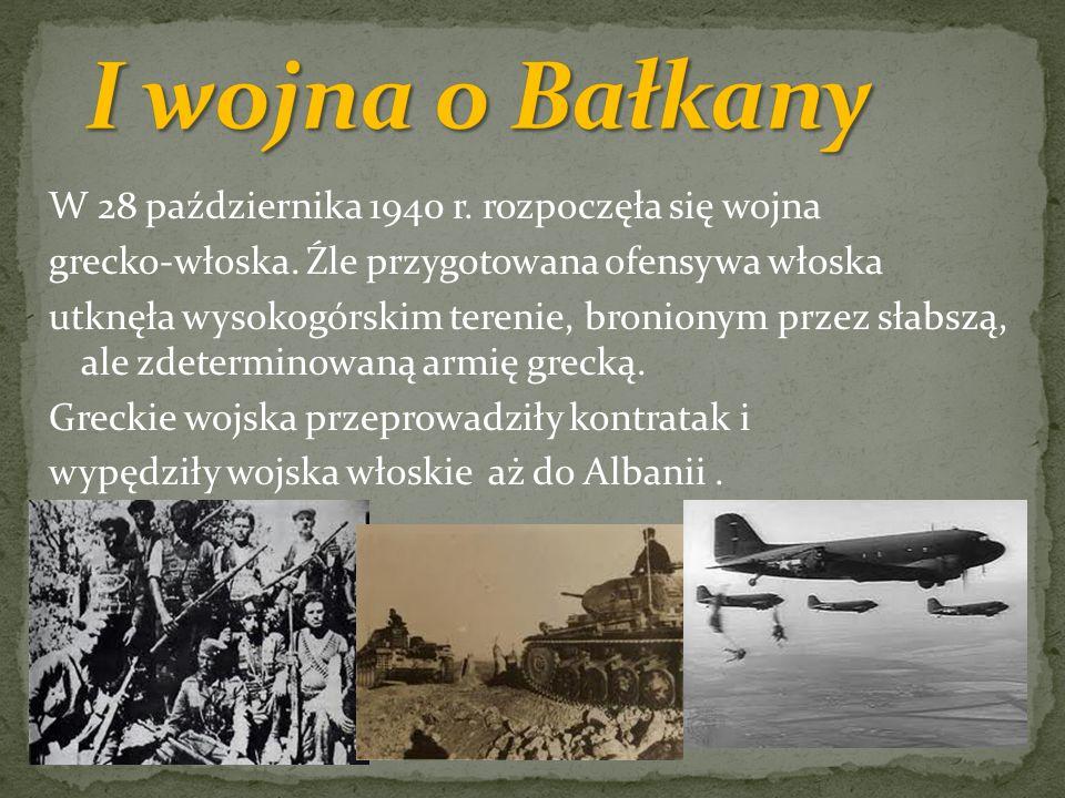 I wojna o Bałkany