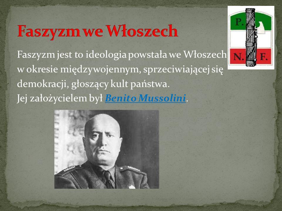 Faszyzm we Włoszech