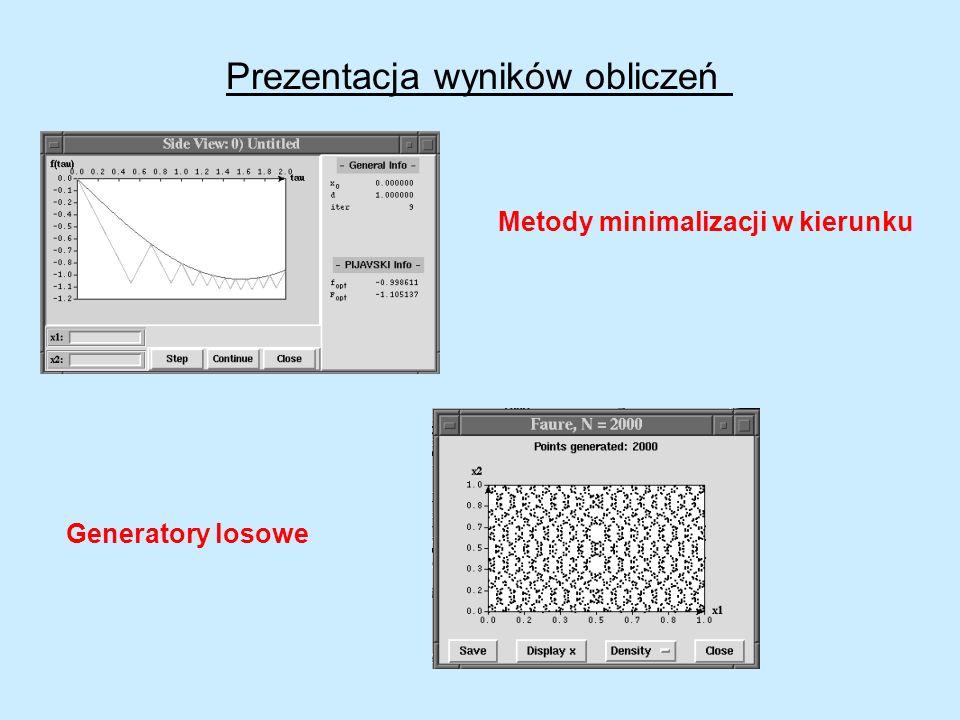 Prezentacja wyników obliczeń