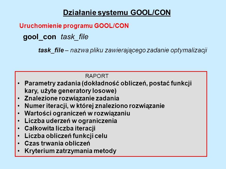 Działanie systemu GOOL/CON