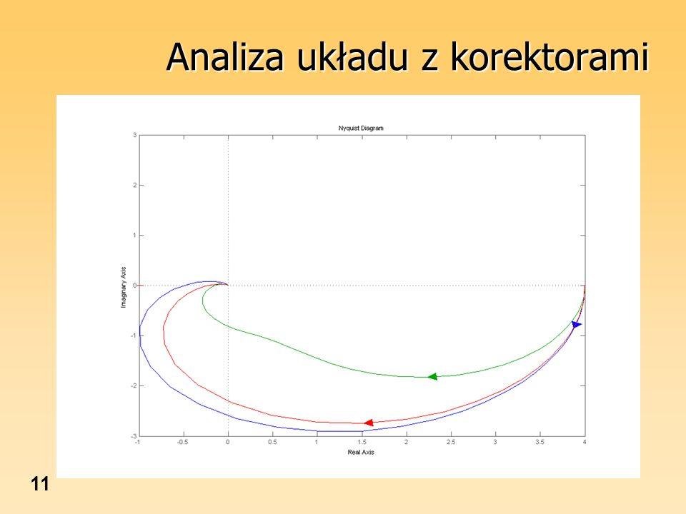 Analiza układu z korektorami