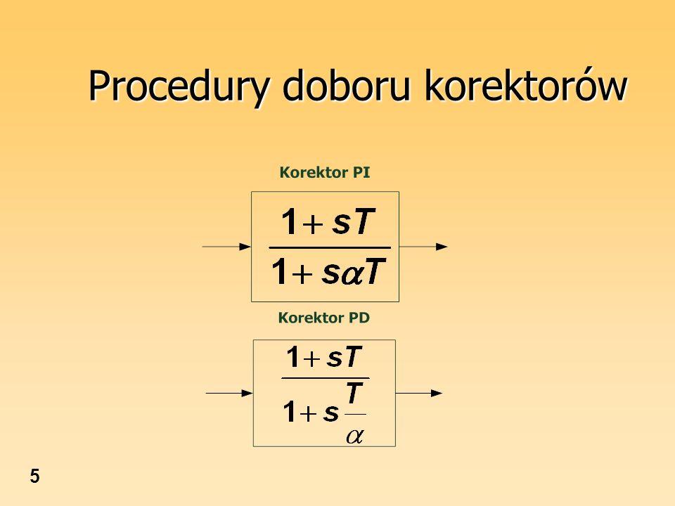 Procedury doboru korektorów