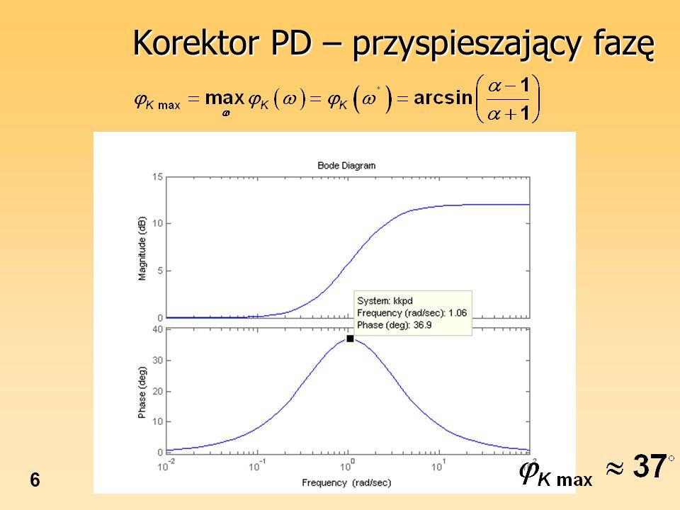 Korektor PD – przyspieszający fazę