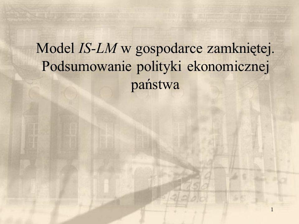 Model IS-LM w gospodarce zamkniętej