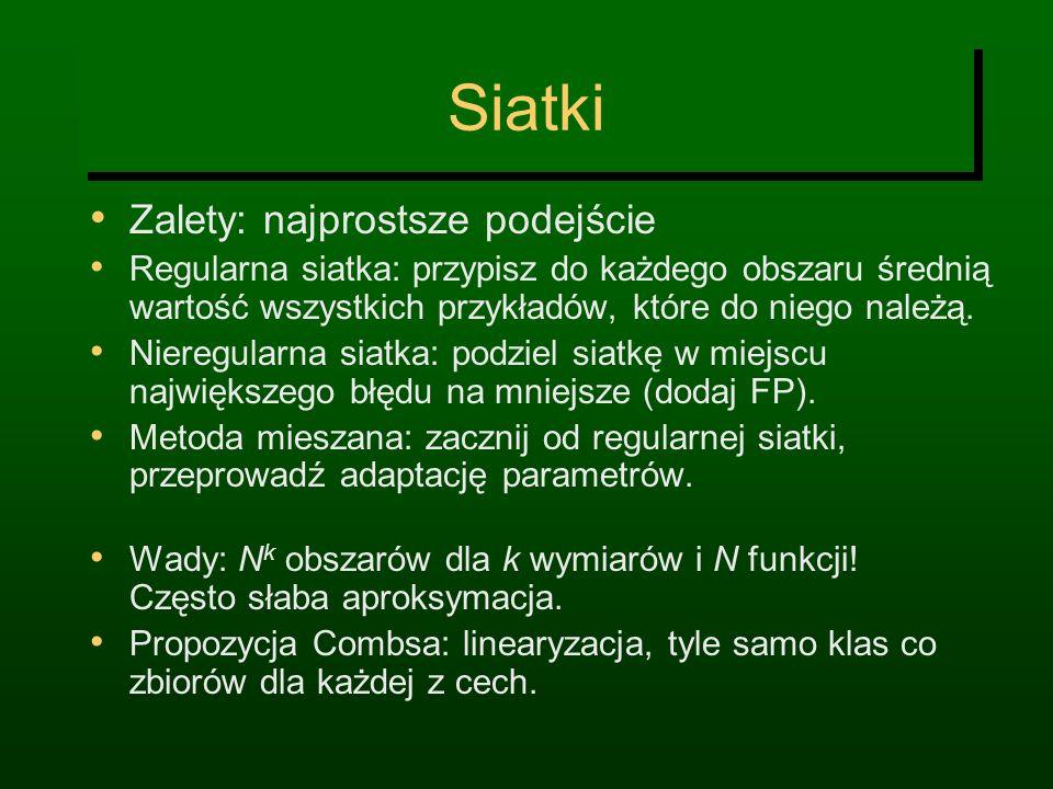 Siatki Zalety: najprostsze podejście