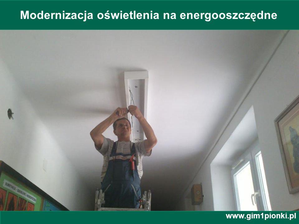Modernizacja oświetlenia na energooszczędne