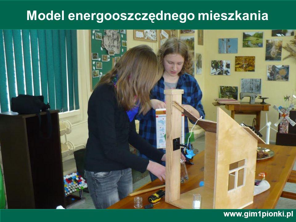 Model energooszczędnego mieszkania