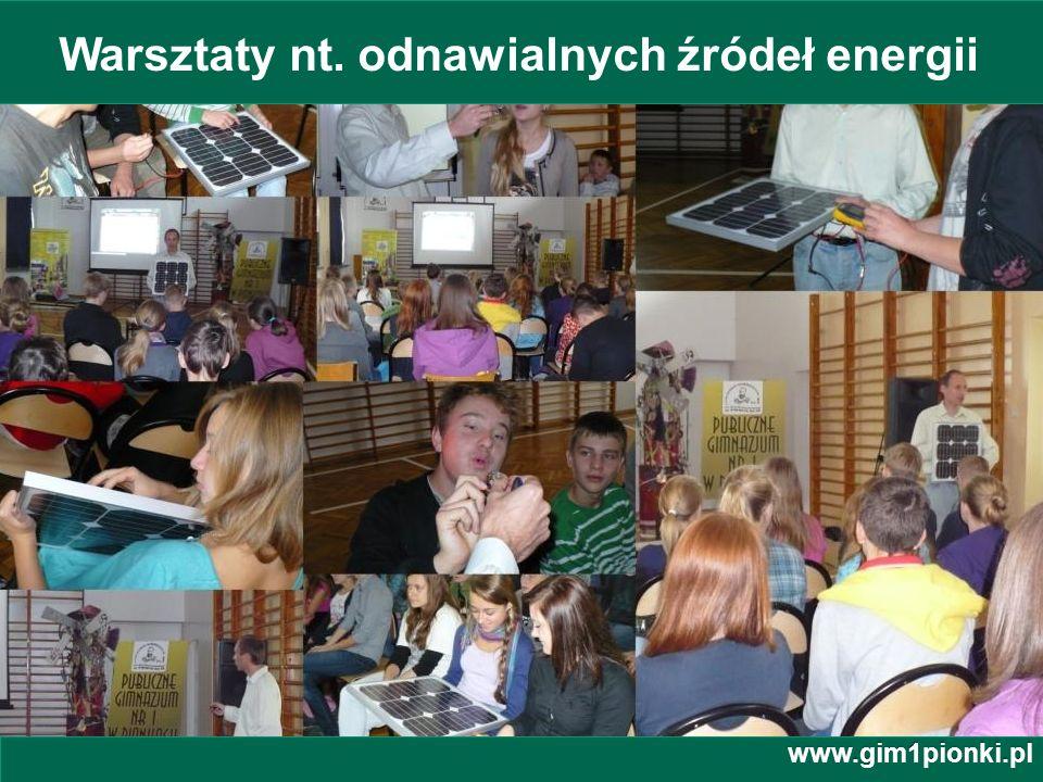 Warsztaty nt. odnawialnych źródeł energii