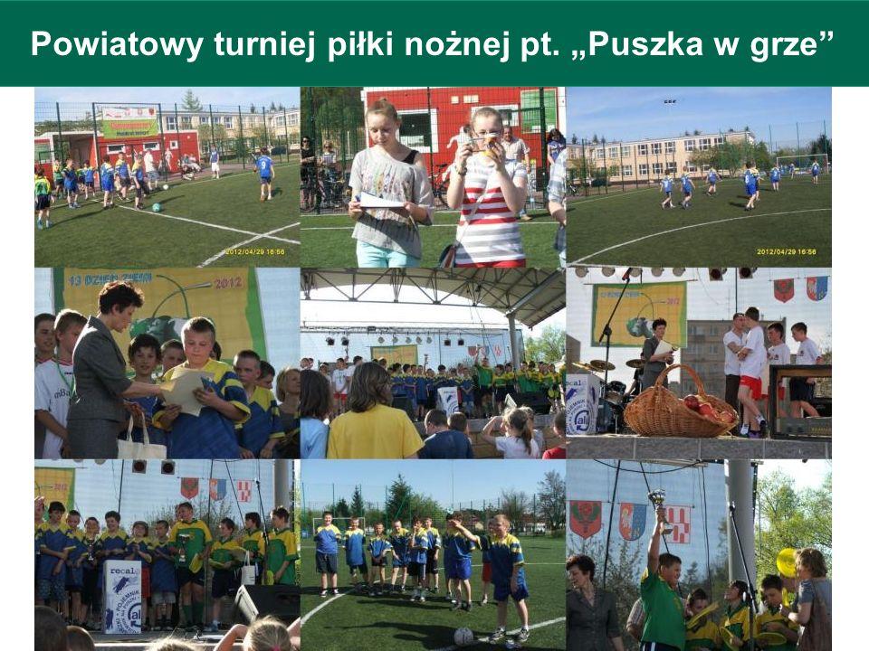 """Powiatowy turniej piłki nożnej pt. """"Puszka w grze"""