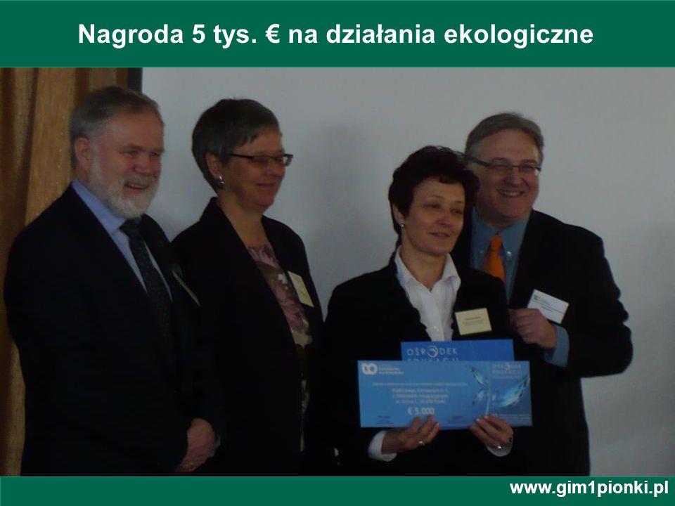 Nagroda 5 tys. € na działania ekologiczne