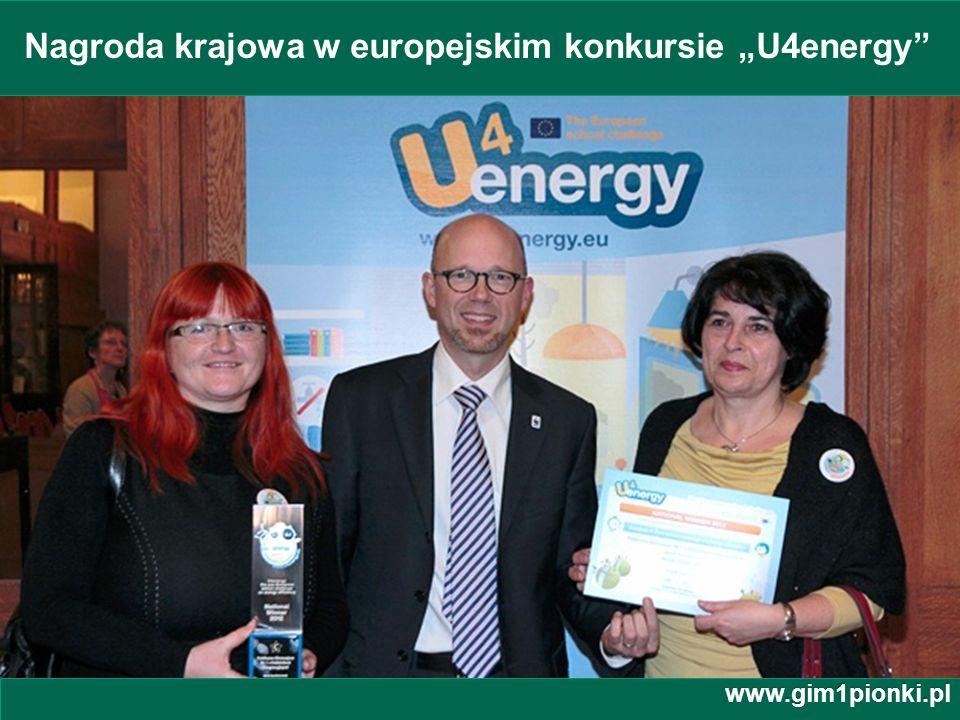 """Nagroda krajowa w europejskim konkursie """"U4energy"""