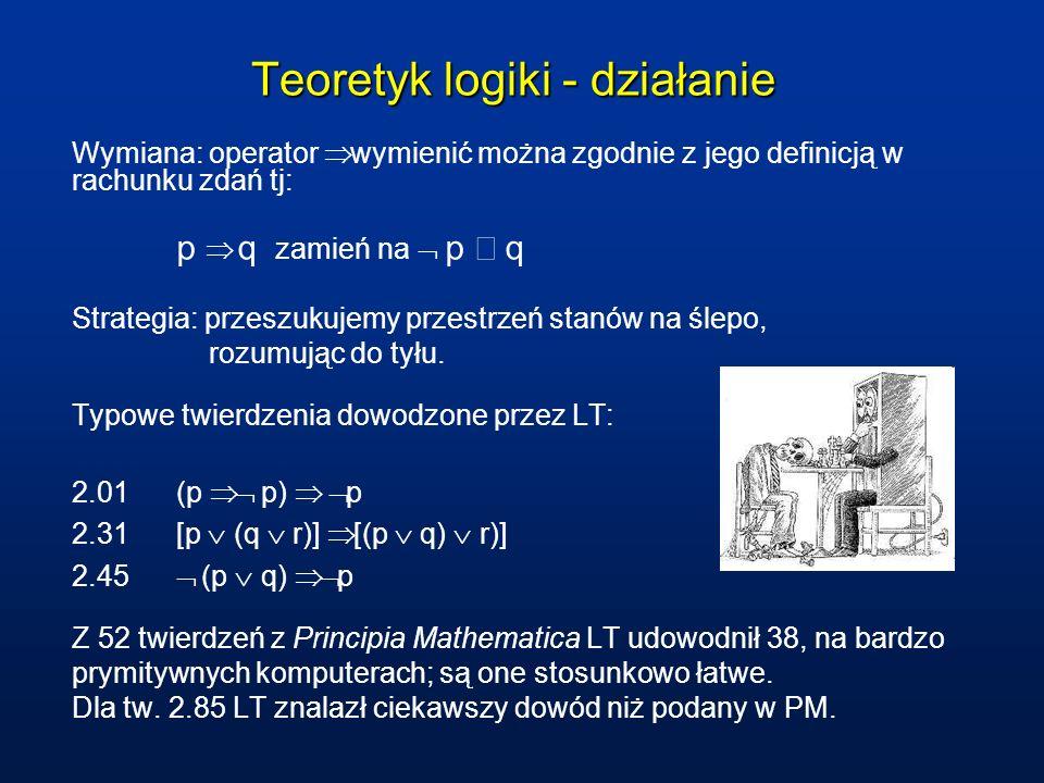 Teoretyk logiki - działanie