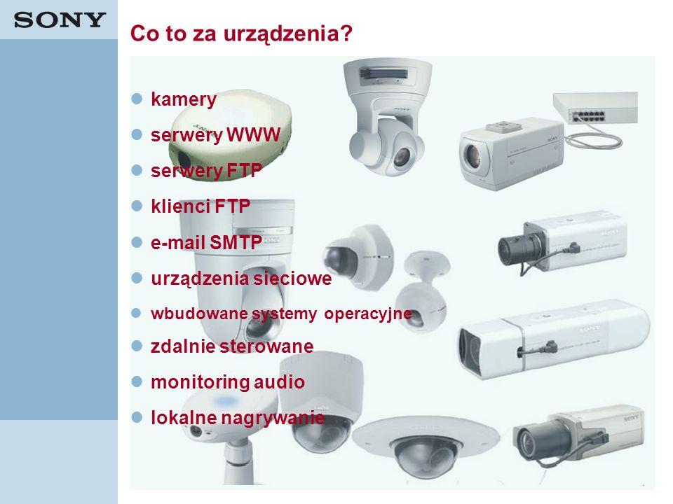 Co to za urządzenia kamery serwery WWW serwery FTP klienci FTP