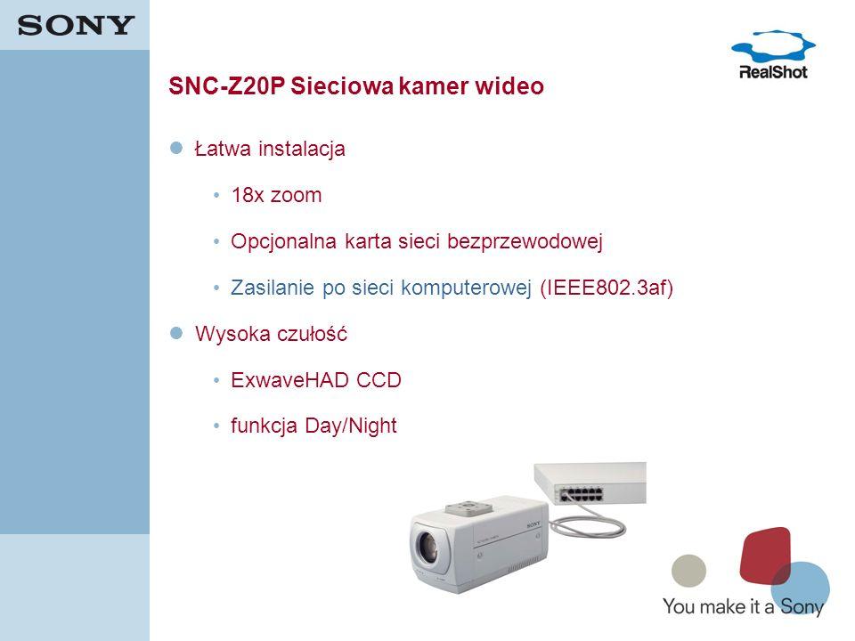 SNC-Z20P Sieciowa kamer wideo