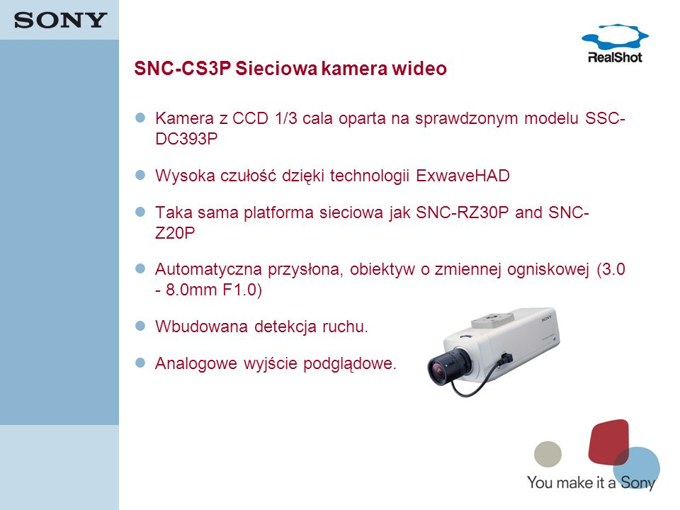 SNC-CS3P Sieciowa kamera wideo