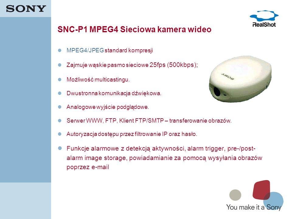 SNC-P1 MPEG4 Sieciowa kamera wideo