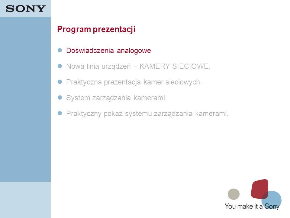 Program prezentacji Doświadczenia analogowe