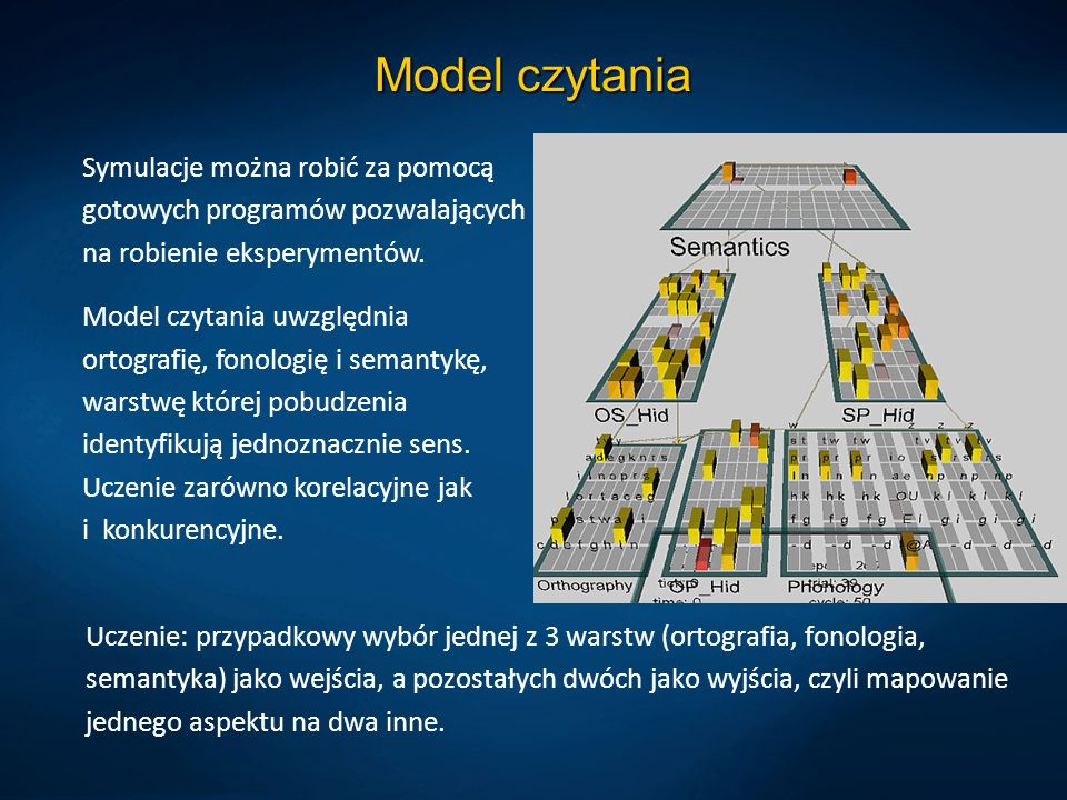 Model czytaniaSymulacje można robić za pomocą gotowych programów pozwalających na robienie eksperymentów.