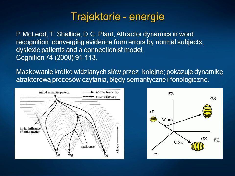 Trajektorie - energie