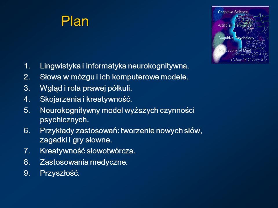 Plan Lingwistyka i informatyka neurokognitywna.