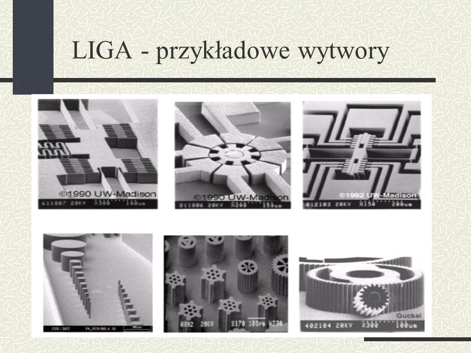 LIGA - przykładowe wytwory