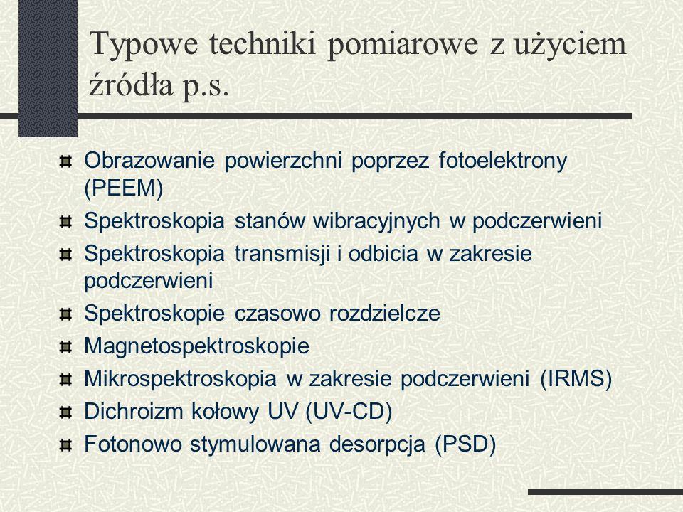Typowe techniki pomiarowe z użyciem źródła p.s.