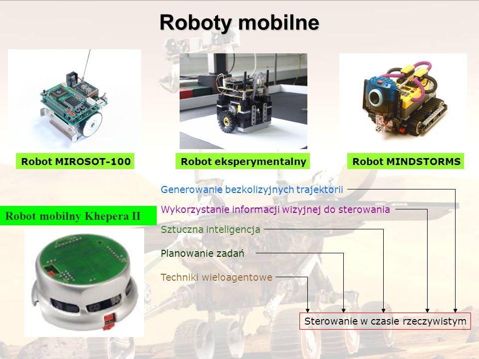 Roboty mobilne Robot mobilny Khepera II Robot MIROSOT-100