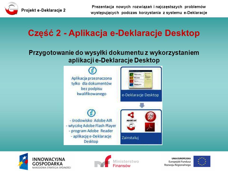 Część 2 - Aplikacja e-Deklaracje Desktop