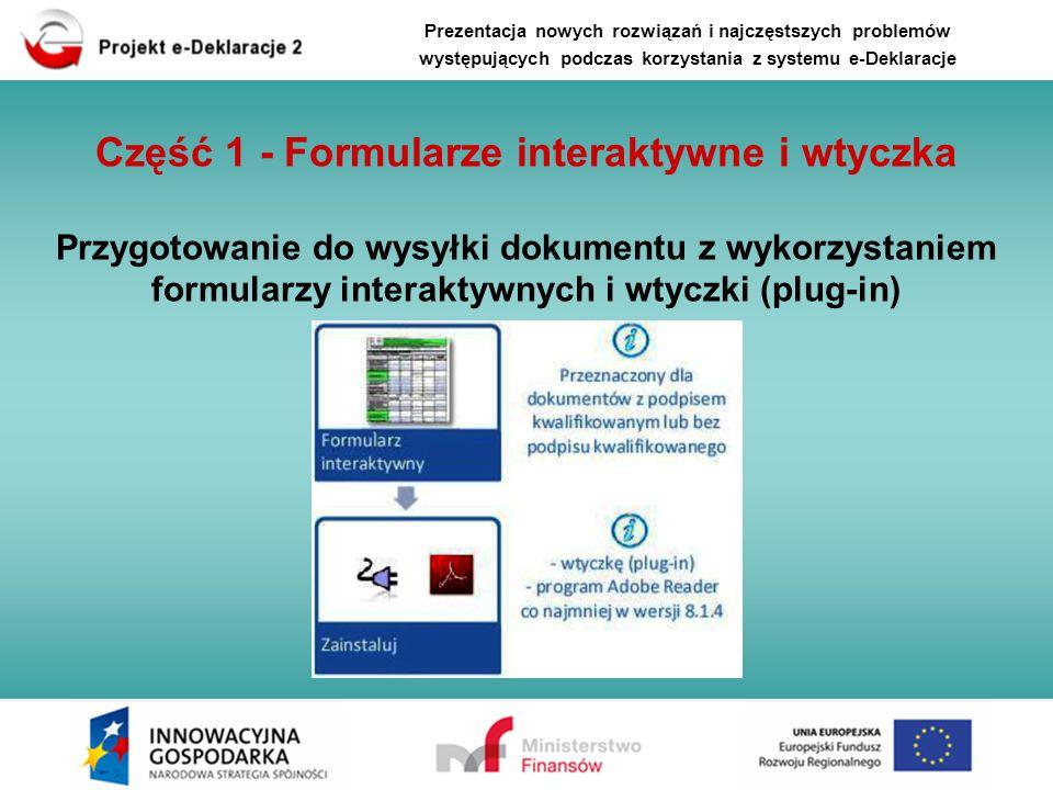Część 1 - Formularze interaktywne i wtyczka
