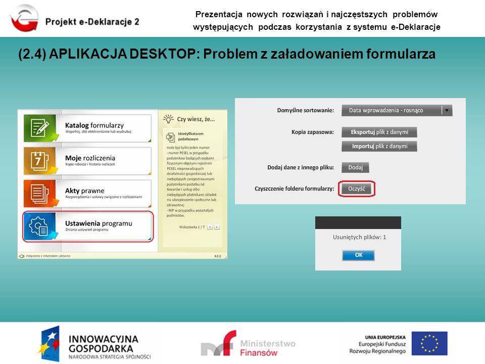 (2.4) APLIKACJA DESKTOP: Problem z załadowaniem formularza