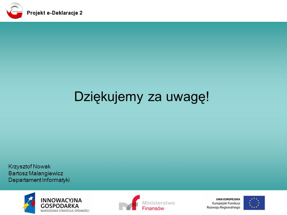 Dziękujemy za uwagę! Krzysztof Nowak Bartosz Malangiewicz