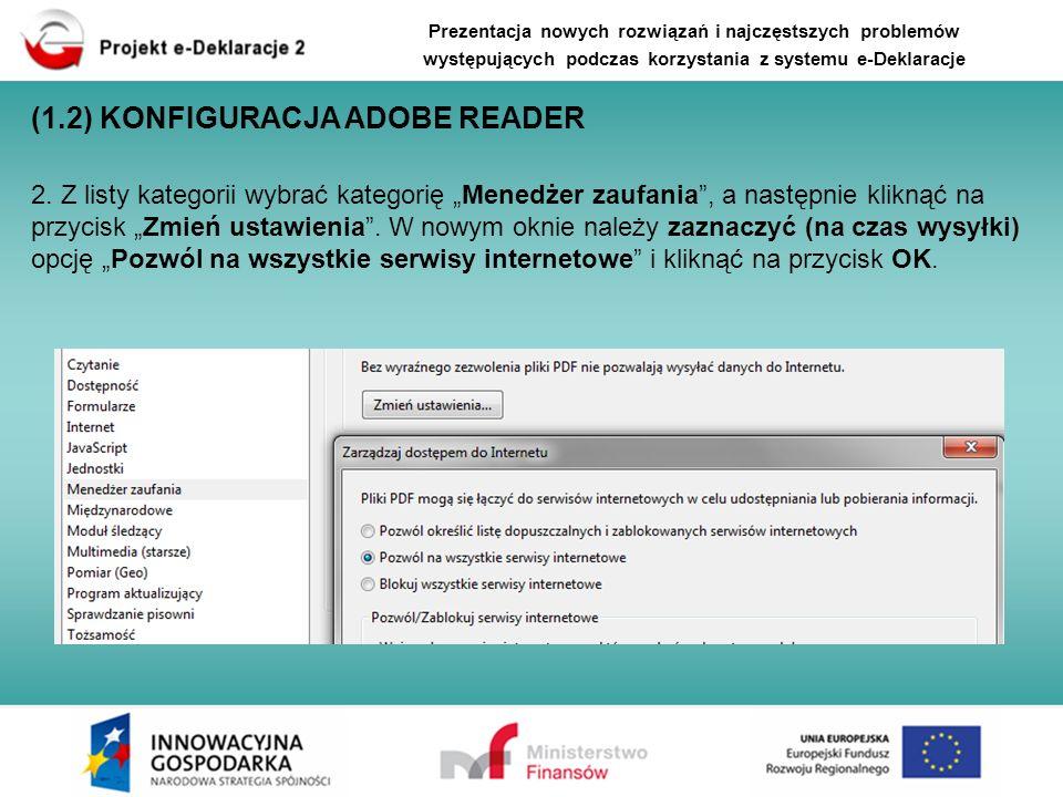 (1.2) KONFIGURACJA ADOBE READER