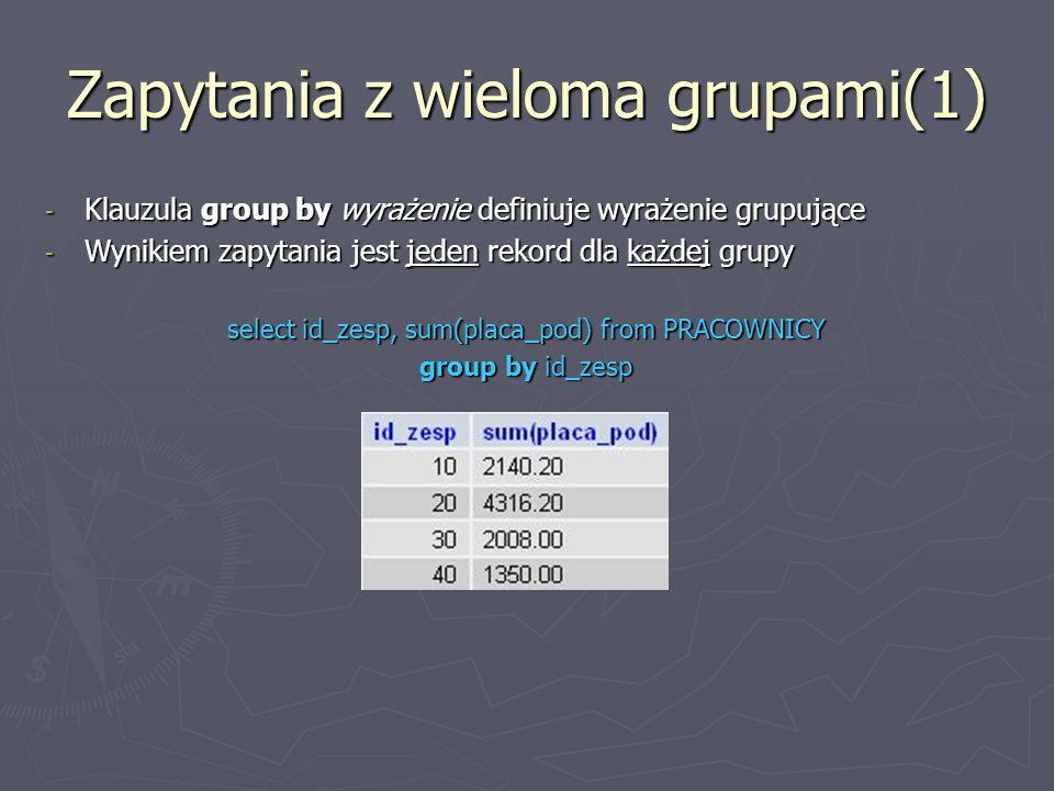 Zapytania z wieloma grupami(1)