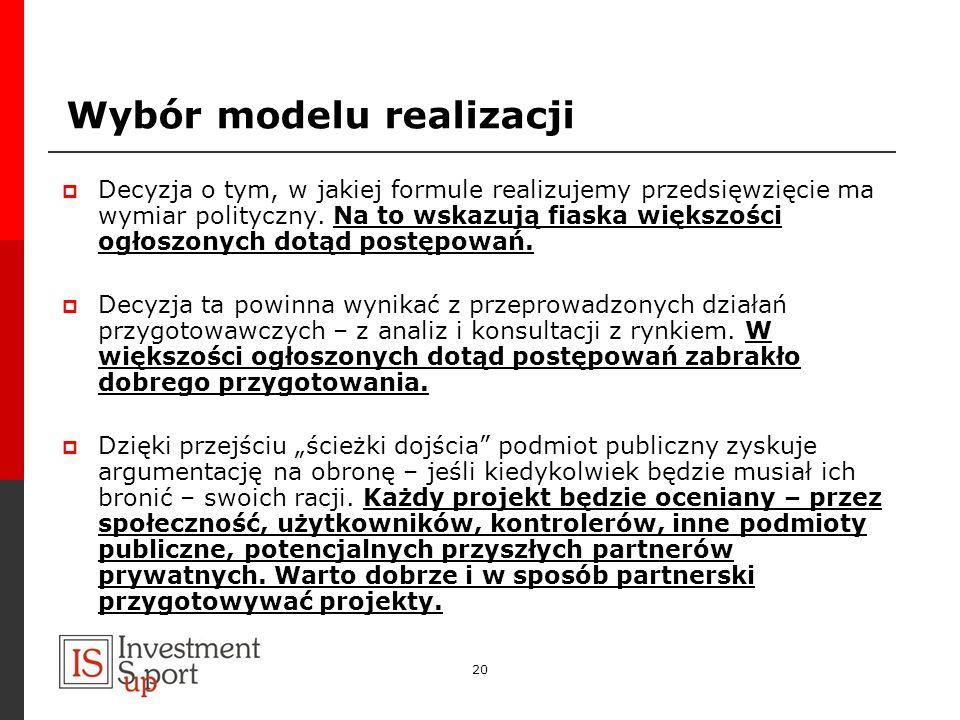 Wybór modelu realizacji