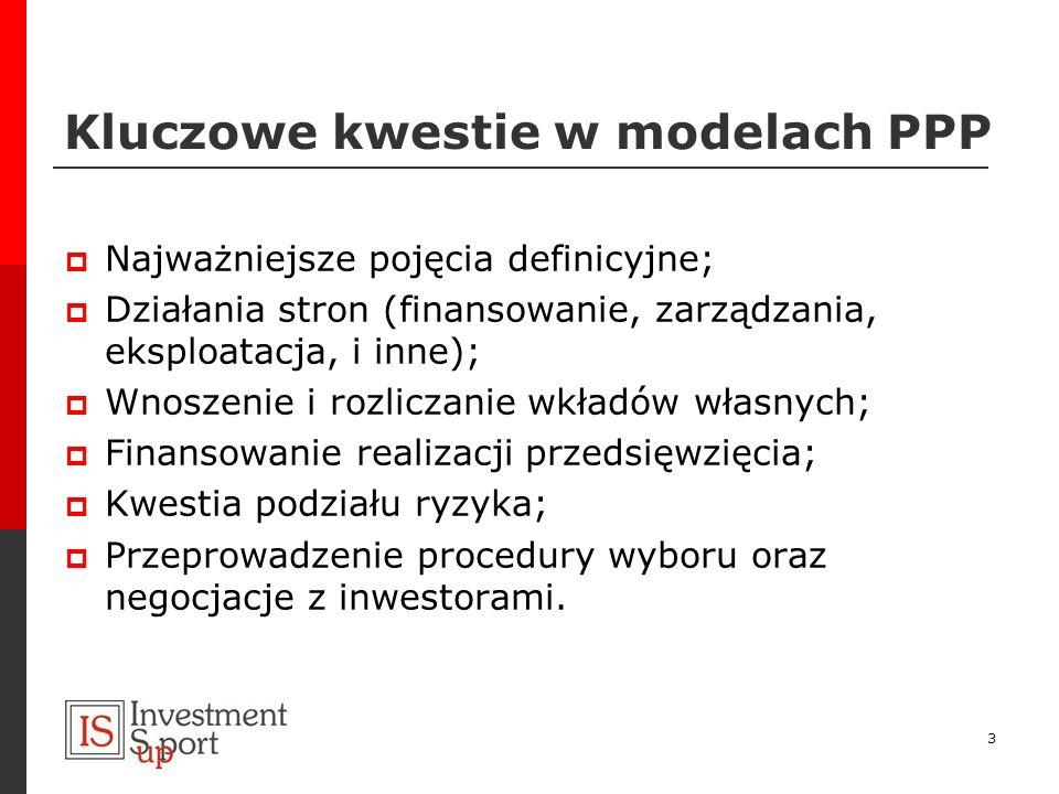 Kluczowe kwestie w modelach PPP