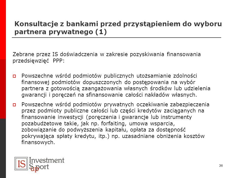 Konsultacje z bankami przed przystąpieniem do wyboru partnera prywatnego (1)