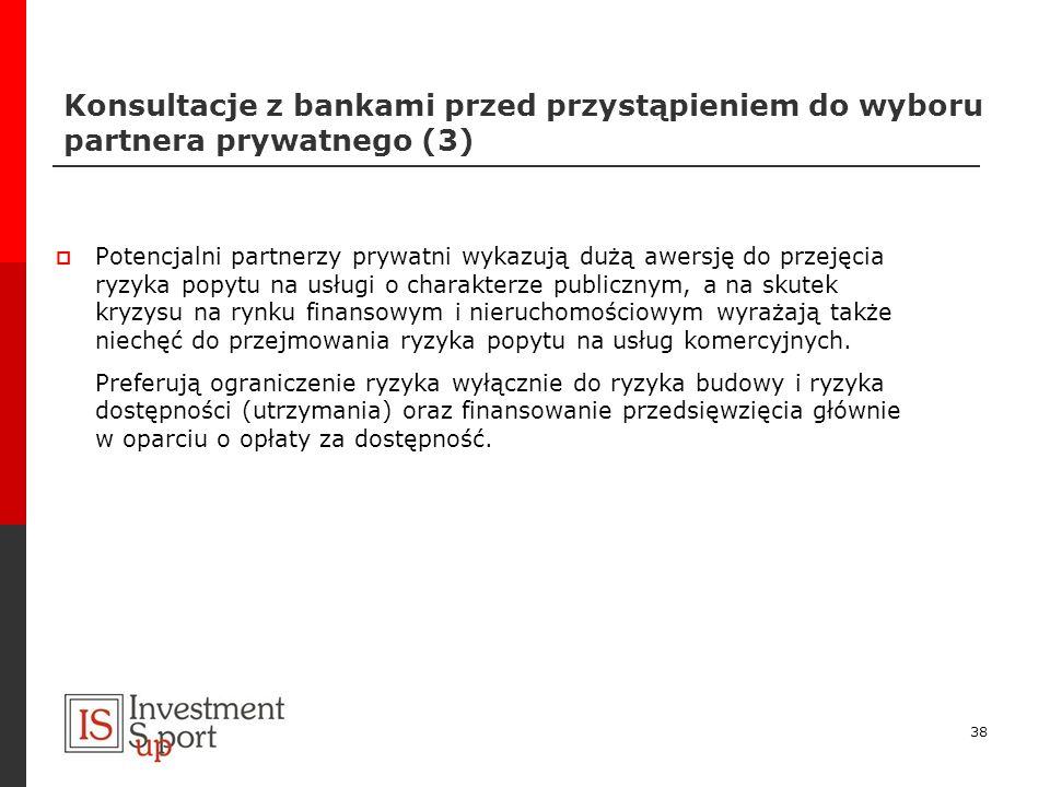 Konsultacje z bankami przed przystąpieniem do wyboru partnera prywatnego (3)