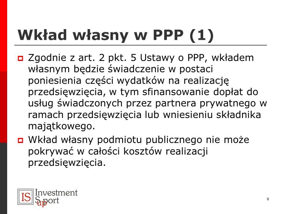 Wkład własny w PPP (1)