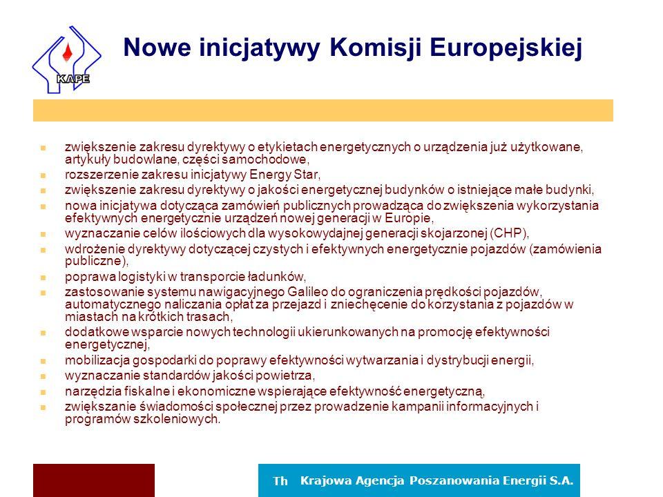 Nowe inicjatywy Komisji Europejskiej