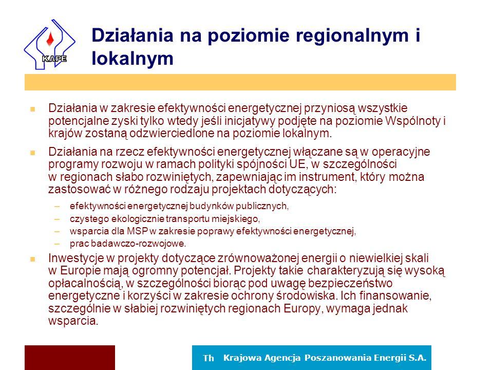 Działania na poziomie regionalnym i lokalnym