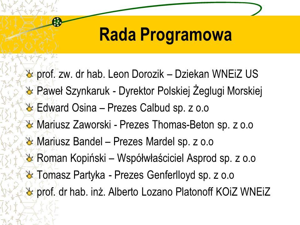 Rada Programowa prof. zw. dr hab. Leon Dorozik – Dziekan WNEiZ US