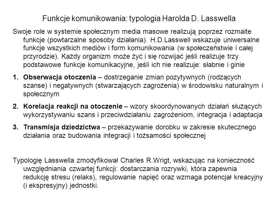 Funkcje komunikowania: typologia Harolda D. Lasswella